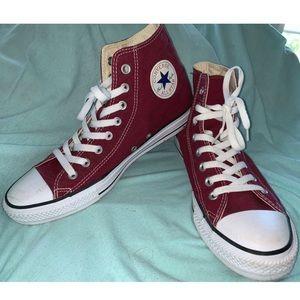 Burgundy Converse All Star Chuck Taylor's